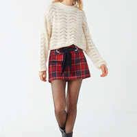 UO Jenni Pointelle Pullover Sweater   Urban Outfitters