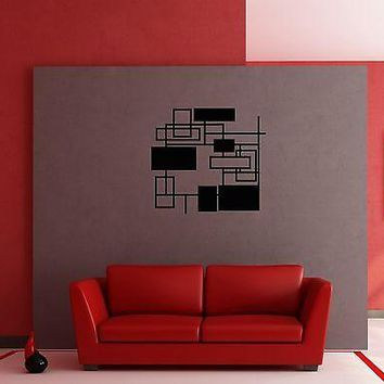 Wall Stickers Vinyl Decal Modern Abstract Geometrical Shape for Bedroom Unique Gift z1245