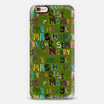 green merry christmas happy new year iPhone 6s case by Sharon Turner   Casetify