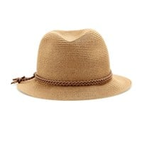 Fedora with suede trim