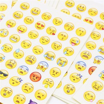 cut sticker 48 classic Emoji Smile face stickers for notebook albums , message Twitter Large Viny Instagram Classical toys