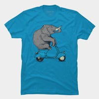 Elephant On Classic Motorbike T Shirt By Kiryadi Design By Humans