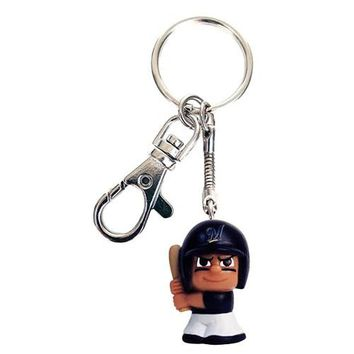 Party Animal TeenyMates Tagalongs Key Chain MLB Milwaukee Brewers