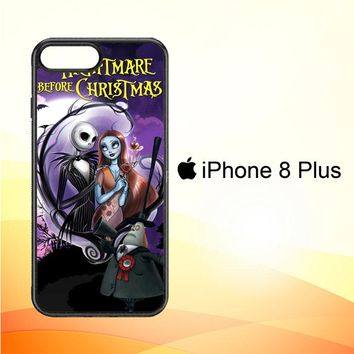 Jack And Sally Muertitos The Nightmare Before Christmas C0092 iPhone 8 Plus Case