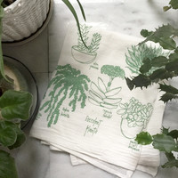 Succulent Tea Towel