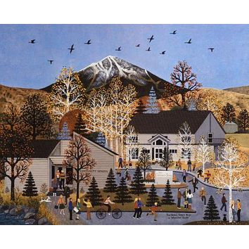 Sun Valley School Days - Limited Edition Lithograph on Paper by Jane Wooster Scott