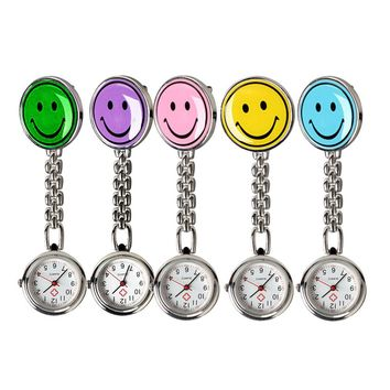 New Portable Smile Face Nurse Fob Brooch Pendant Pocket Quartz Watch  LL@17