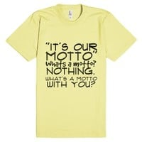 It's our motto..-Unisex Lemon T-Shirt