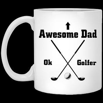 Awesome Dad Ok Golfer Ceramic Coffee Mug Perfect Fathers Day Or Birthday Gift For Dad