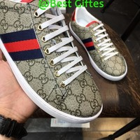 GUCCI Men 2019 New Embroidery Casual Sneakers Sport Shoes Best Quality