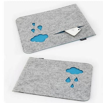 "Cloud Woolen Felt Laptop Sleeve Bag for Laptop /Samsung /Sony /HP / MacBook Air 11"" 13"" 15"""