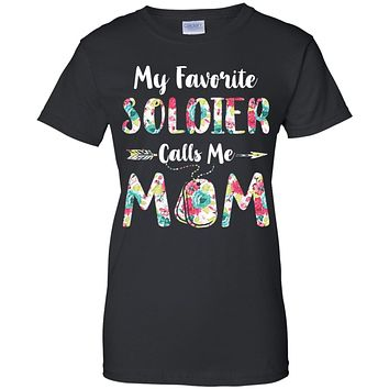 Floral My Favorite Soldier Calls Me Mom Mothers Day Gift