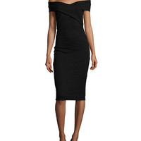 MICHAEL Michael Kors Crossover Off-the-Shoulder Dress