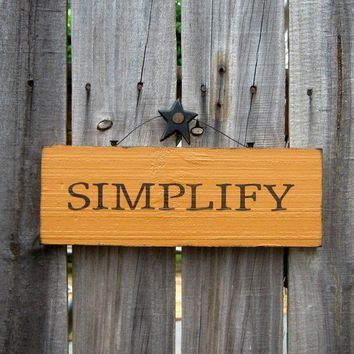 Simplify Sign Mustard Yellow with Black by SuzsCountryPrims