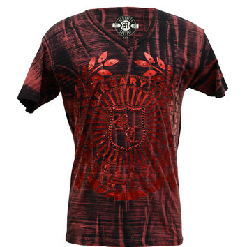 Rawyalty Men's RC Leafs T-Shirt Mineral Red