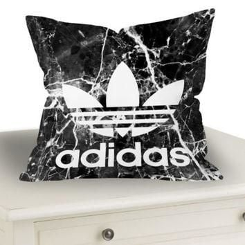 Best Adidas Marble Black Throw Pillow Case Cushion 20 x 20 Zippered Cover