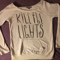 Cute Light Grey Kill The Lights Sweater by StayInSolitude on Etsy