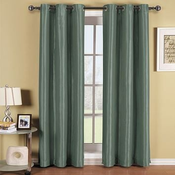 BLUE 42x63 Soho Grommet Thermal coating Blackout Window Curtain Panel