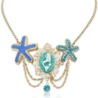 """Betsey Johnson """"Jewels of the Sea"""" Mermaid and Starfish Necklace, 19"""""""