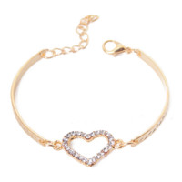 FREE Heart Shaped Golden Band Bracelet from SheShopper.com
