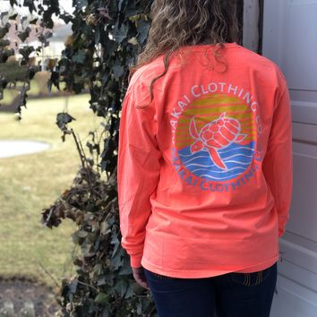 Neon Coral Pocketed Daybreak Print