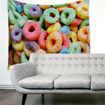 Fruit Loops Cereal Boho Gypsy Unique Dorm Home Decor Wall Art Tapestry