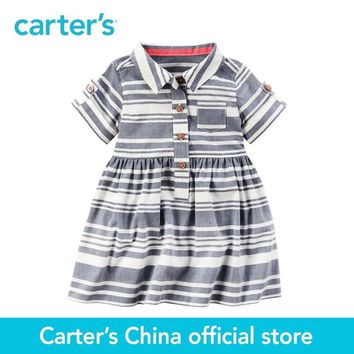Carter's 1pcs baby children kids Striped Shirt Dress 127G315,sold by Carter's China official store