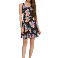Disney Lilo Stitch Floral Print Dress