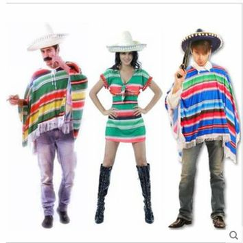 Halloween Cosplay Costumes Mexican Clothing Mexico's Clothes Hawaii Clothing