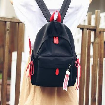 Student Backpack Children Korean ulzzang Canvas Bag Japanese Harajuku Chic Girl Student Backpack Fresh Patchwork School Backpack for Teenage Girls AT_49_3