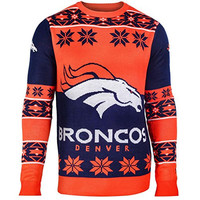 Denver Broncos Forever Collectibles KLEW Big Logo Ugly Sweater Sizes S-XXL w/ Priority Shipping