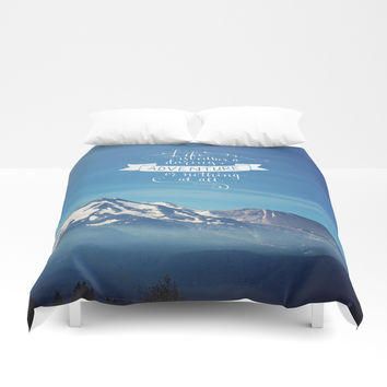daring adventure Duvet Cover by Sylvia Cook Photography