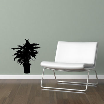 Vinyl Wall Decal Houseplant Style A 22514