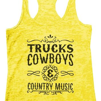 TRUCKS COWBOYS & COUNTRY MUSIC Burnout Tank Top By Womens Tank Tops