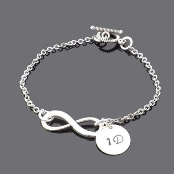 Friendship One Direction Bracelet  infinity by jewelrycraftstudio