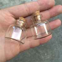 24pcs 10ml Mini Glass Bottles Cork Mason Jars