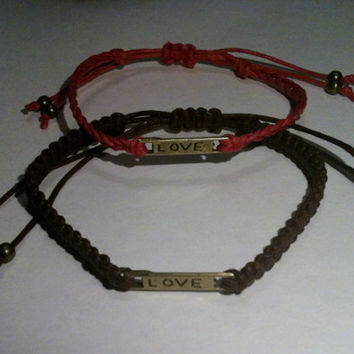 Couples Love Bracelets Matching His and Hers Bracelets You Choose Color