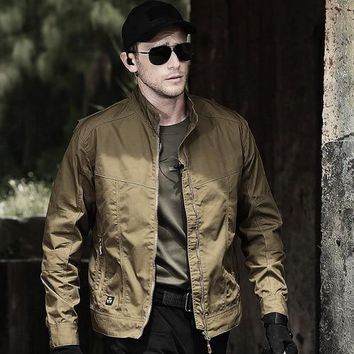 Autumn Men's Tactical Field Bomber Jacket, Military Clothes Special Forces Army Jackets, Fall Spring Outdoor Male Slim Pilot Coa