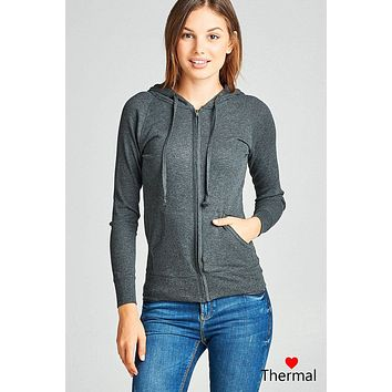 Charcoal Grey Front Pocket Hoodie