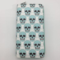 Skull Pattern Lovely Long Wallet Clutch Purse Wallet Purse Purse Card Holders Wallet