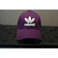 ADIDAS Clover Tide Brand Fashion Casual Embroidered Sun Hat F-ADD-MRY Purple