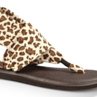 Yoga Sling Prints 2 Brown Cheetah Sandals