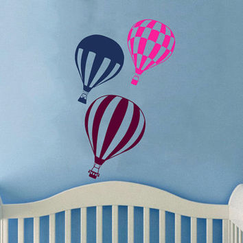 Housewares Hot air Balloons Wall Vinyl Decal Sticker Kids Nursery Baby Room Decor V287