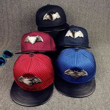 Trendy Winter Jacket 2018 New cotton superman Hat leather snapback baseball caps Net Flat Cap sports women and man Hip-hop hats casquette NY LA Cap AT_92_12