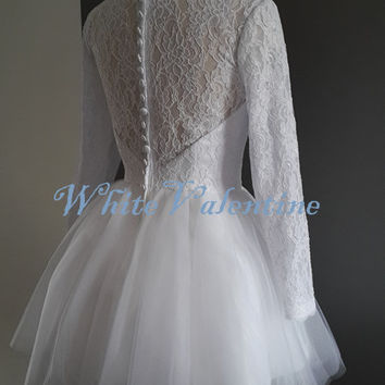 Long Ivory Lace Prom Dress Wedding Dress Lace Reception Dress White Graduation Dress Homecoming Dress Wedding Party Dress Custom Bridal Gown