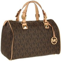 MICHAEL KORS Grayson Large Logo Satchel Womens Handbag