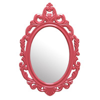 Pink Baroque Mirror