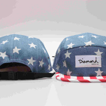 Five 5 panel Diamond Snapback Cap Hip Hop Cap Flat Hat for Men & Women Casquette Gorras Planas Bone Hat