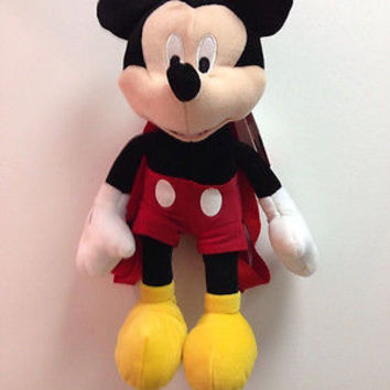 "Walt Disney Mickey Mouse Clubhouse Plush Backpack Tote 17"" NEW with Tags!"