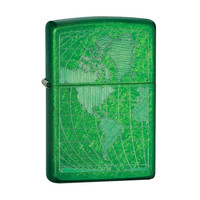 Zippo 28340 Green Meadow Iced World Personal Lighter